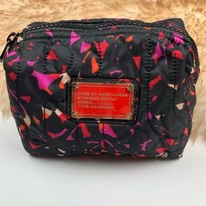 Marc Jacobs Cosmetic Case Black Red Pink Zip
